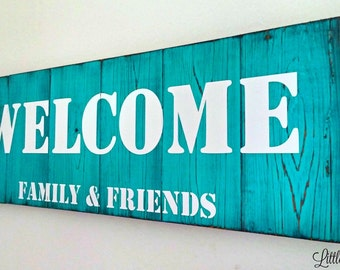 Welcome Sign | Front Porch Sign | Large Wooden Sign | Front Porch Decor | Wood Welcome Sign | Rustic Welcome Signs | More Color Options