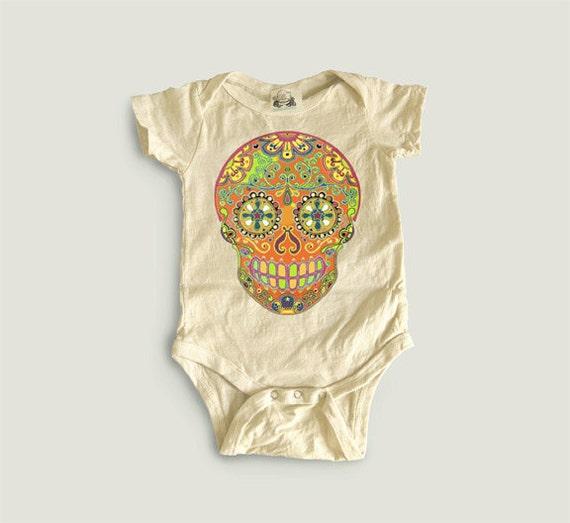 Hippie Baby clothes boy girl Music Festival Orange by
