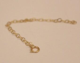14k chain extender, 14k yellow gold chain extender, 14k chain extension,14k chain bracelet, gold chain bracelet,14k chain necklace extension