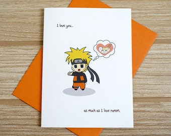 Love You As Much As Ramen Card