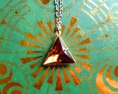 """GOING OUT of BUSINESS--60% off Legend of Zelda-inspired """"The Desert Prince"""" Triforce of Power necklace"""