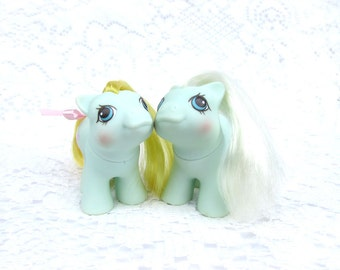 Vintage My Little Pony Newborn Twins Jangles and Tangles