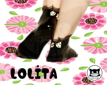 Lolita latex Socks ankle