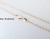 "18"" - 18KT Yellow Gold Filled Chain - Dainty Fine - 18"" - 18 Inch - Lobster Claw Clasp - 18 Karat KT YGF"