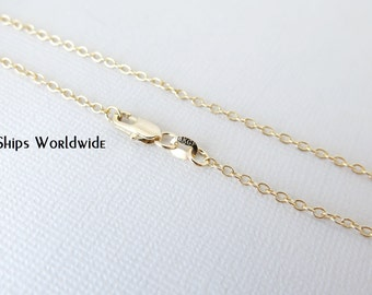 """18"""" - 18KT Yellow Gold Filled Chain - Dainty Fine - 18"""" - 18 Inch - Lobster Claw Clasp - 18 Karat KT YGF - Cable Chain"""