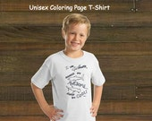 Coloring Book Page T-Shirt - Unisex Sharks