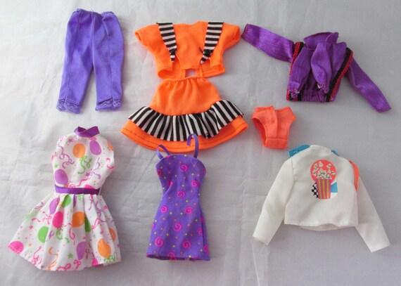 barbie fashion doll clothes purple orange mixed clothing lot. Black Bedroom Furniture Sets. Home Design Ideas
