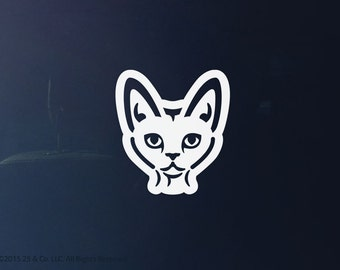 Devon Rex Cat Vinyl Decal | Car Sticker, Decoration | 25 & Co