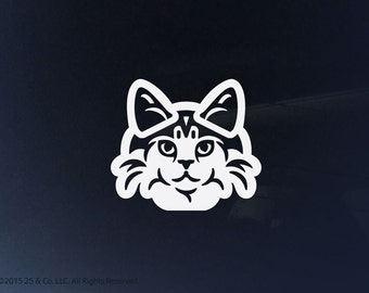 Norwegian Forest Cat Vinyl Decal | Car Sticker, Decoration | 25 & Co