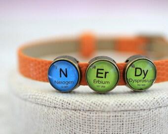 Nerd Periodic Table, Nerdy Periodic Table Bracelet, Periodic Table, N Er Dy, Nerdy Bracelet, Periodic Table Bracelet, Chemistry Bracelet