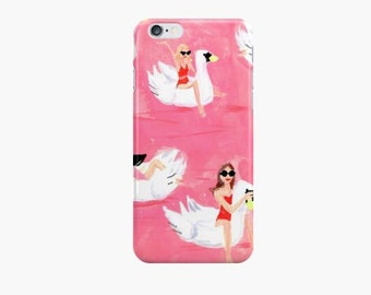 Summer of Swans: iPhone 6 iPhone 7 Case {iPhone 6s, iPhone 6 Plus, iPhone 5, iPhone 5c}