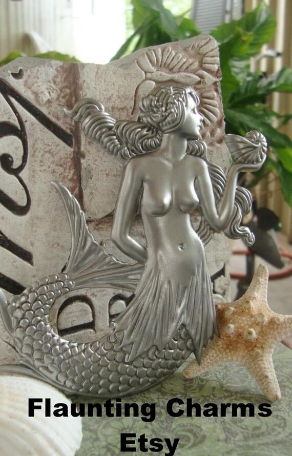 Mermaid stamping metal mermaid stampinglargemermaid home for Metal arts and crafts