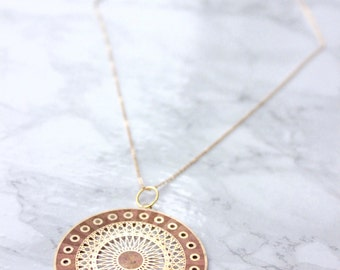 Geometric Necklace | 14K Gold Filled Chain