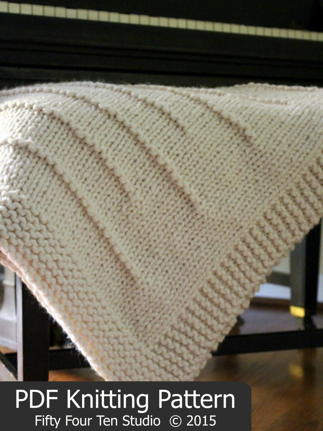 Knitting Pattern Blanket Throw : KNITTING PATTERN / State Line Blanket / Throw / Knit / Gift