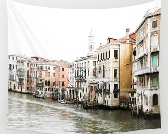 Venice Wall Tapestry, Italy Photography, Venice Print, Grand Canal, Horizontal Art, Extra Large Wall Art, Italy Wall Decor, Venice Italy