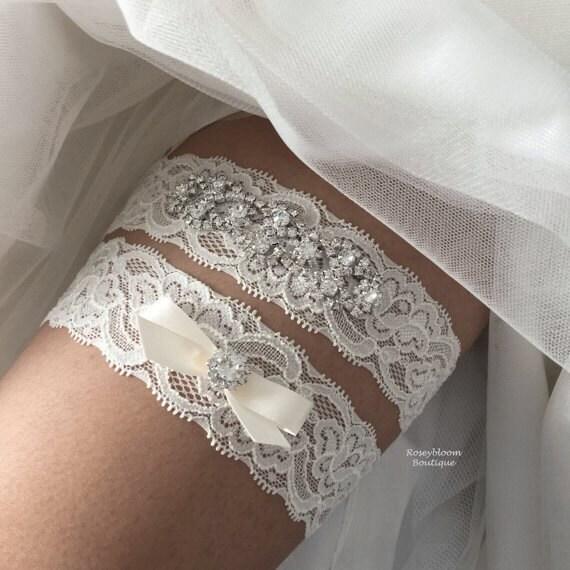 Bridal Garter-Wedding Garter-Rhinestone Garter-Bride