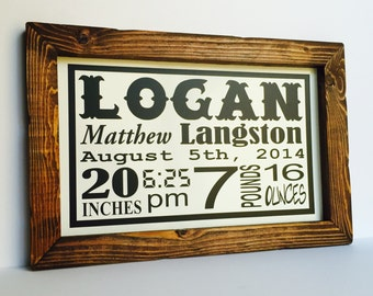 Baby gift ideas etsy birth stat sign personalized baby gift wood sign baby birth statistics personalized negle Gallery