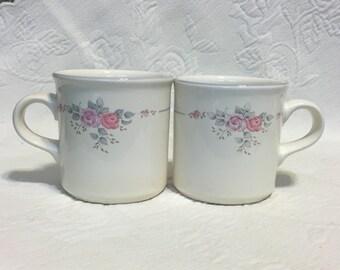 Pfaltzgraff Trousseau Mugs, Pfaltzgraff Mugs,  Trousseau Mugs, Floral Mugs, Coffee Mugs, Tea Mugs, Pfaltzgraff