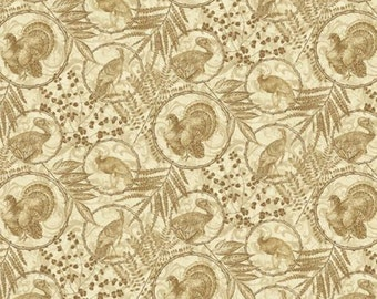 Heritage Turkey Toile Fabric Yardage Benartex. Thanksgiving Fabric. Holiday Fabric. Fall Fabric. Heritage Turkey Fabric. Fall Quilt Fabric.