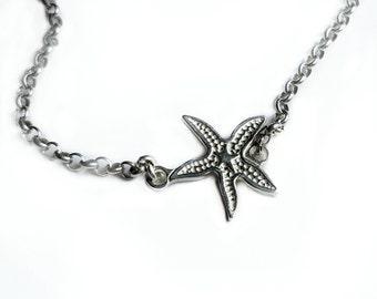 Star Fish Necklace Star Fish Starfish Necklace Starfish Star Fish Jewelry Beach Jewelry Silver Star Fish Necklace Tiny Star Fish