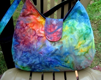 HOBO BAGS, HOBO Purses, Women's Purses, Women's Handbags, Summer Bags, Tie Dye Purses, Pocketbooks, Handmade Bags, Rainbow Purses