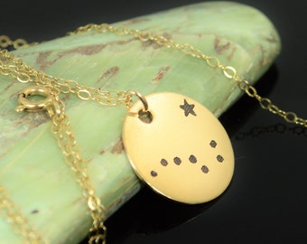 14k Gold Filled Big Dipper Necklace, Gold Big Dipper Necklace, Gold filled, Constellation, Star Jewelry, Zodiac Necklace, Big Dipper, Gold