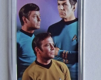 Classic Star Trek TV fridge magnets New - Captain Kirk Spock Bones - William Shatner Leonard Nimoy DeForest Kelley