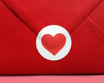 Heart Stickers, Wedding Stickers, Wedding Favor Label, Love Heart Envelope Seal, Wedding Invite Sticker, Sticker For Invites, Made With Love