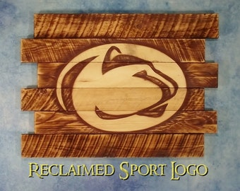 Penn State University, FREE UV protector, 30X23, Burnt wall hanging, Shou Sugi Ban, Charred wood, Sports sign, Man cave, Wood Sports sign