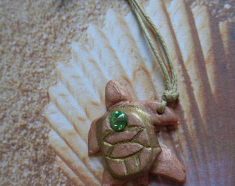 Clay Turtle Necklace