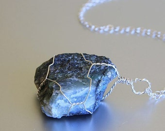 Emerald Necklace, Natural Raw Emerald, May Birthstone, Sterling Silver, Emerald Jewelry, Raw Crystal Necklace