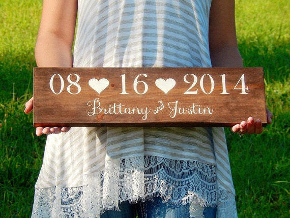 Wedding Date Picture Gift: Wedding Date Sign Bridal Shower Gift Save The Date Prop
