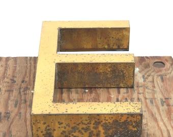 E golden shopfront letter, loft, workshop, wedding, kid bedroom, studio, agency, office