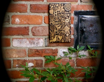 custom home sweet home sign-choose your own street , town, country or place name -ooak flower bird leaf design wood burned bespoke sign
