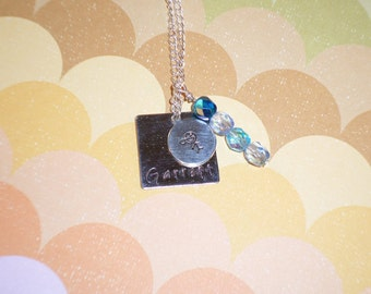 Love my Son stamped necklace