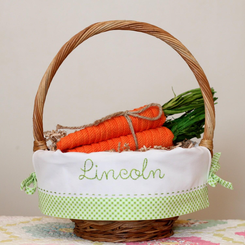 Easter Basket Liner Personalized Easter Basket Fits Pottery