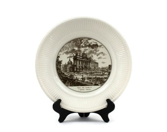 "Wedgwood Piranesi Plate - Historical Plate, Collectible Plate, ""Veduta della Basilica di S. Giovanni Laterno"", Wedgwood England, c1940s"