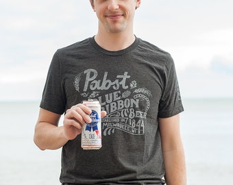Limited Edition Pabst Blue Ribbon Unisex Triblend T-shirt