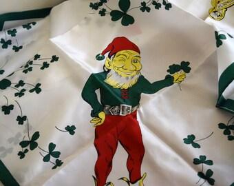 Vintage St. Patricks Day Scarf / Altar Cloth