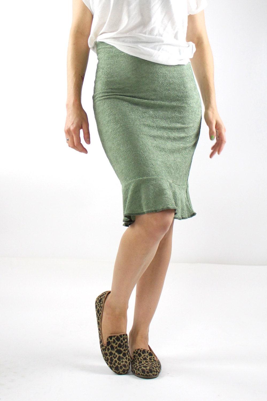 pencil skirt with ruffle skirt fishtail skirt