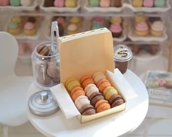 1:6 Scale Sweet Petite Play Scale Miniature Autumn Flavors Laduree Macarons