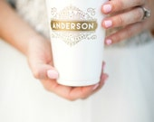 Wedding Cups, Party Cups, Monogrammed Wedding Cups, Custom Wedding Favors, Foam Cups, Custom Cups, Reception Favors, Wedding Favors, 1441
