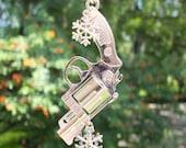 WINTER GUN  Vintage Style Gun and Bullets Christmas Tree Ornament