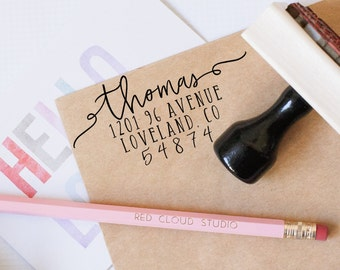Return Address Stamp, Personalized Address Stamp, Wedding Invitation, Custom Address Stamp, Save the Date, Wedding Calligraphy Stamp