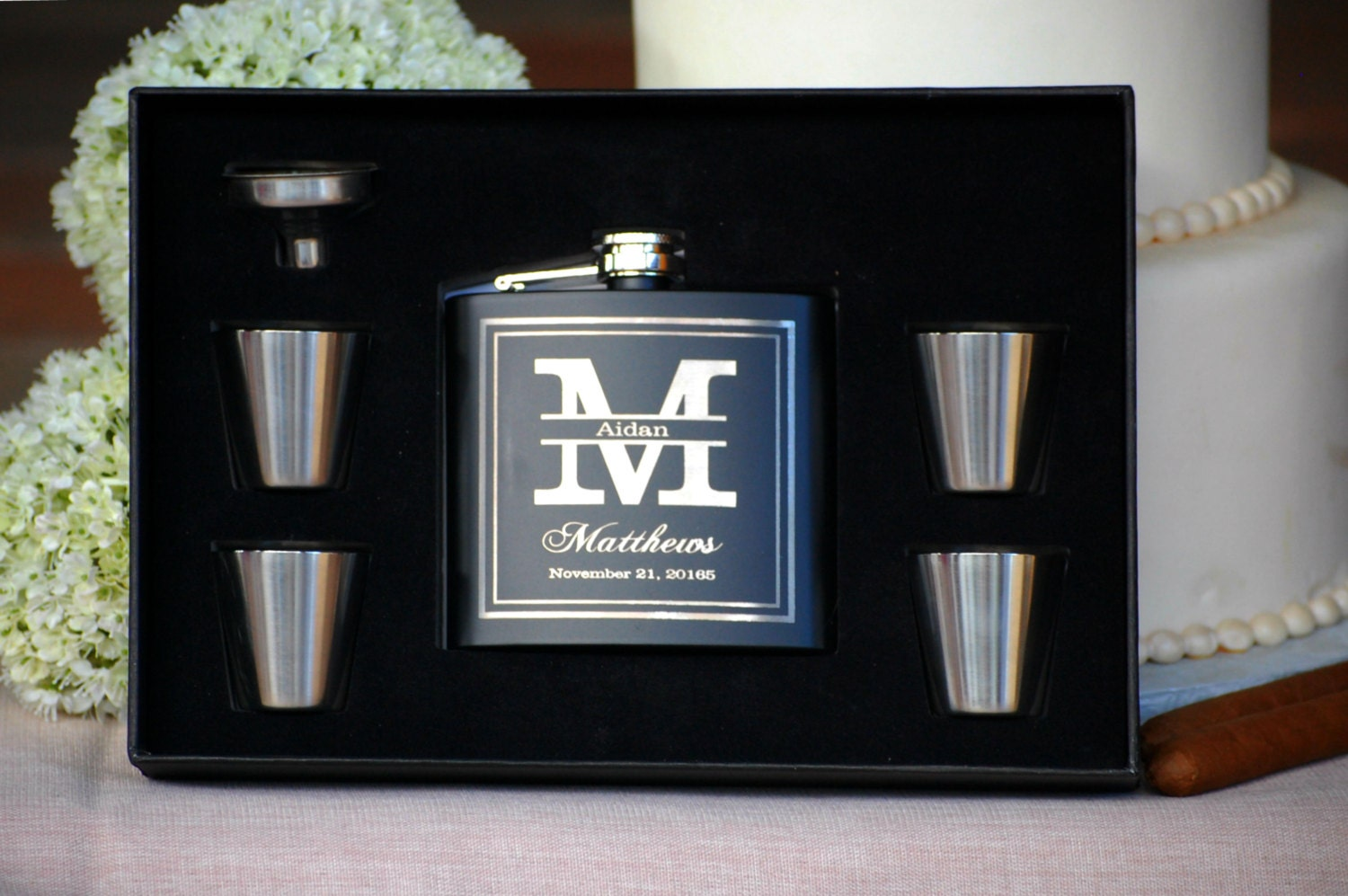Personalized Wedding Gifts For Groomsmen: Groomsmen Gift Flask Gift Set Personalized Flask Engraved