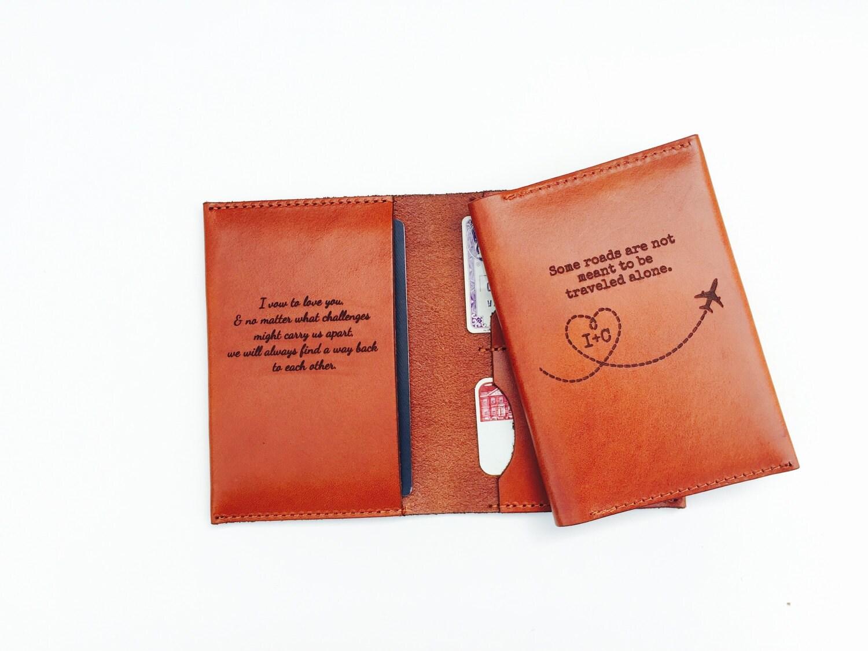 Australian Wedding Gifts: Best Wedding Gift Passport Sleeve Personalized Groom Gift