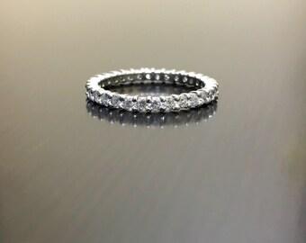 Platinum Diamond Eternity Band - Platinum Eternity Diamond Wedding Band - Eternity Diamond Platinum Engagement Band - Eternity Ring