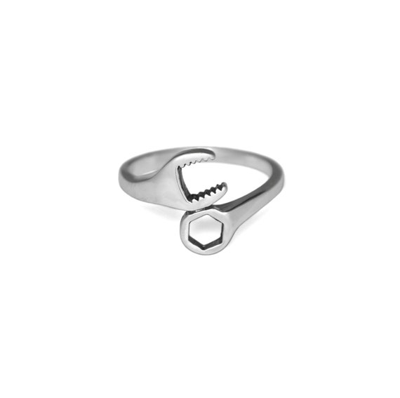 silver wrench ring solid 925 sterling silver rings by evyral