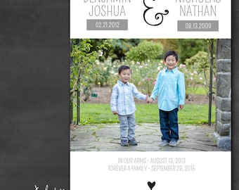 Adoption Announcement for Siblings- Ampersand