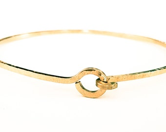 Knotted Bangle Bracelet, Gold Stacking Bangle, Gold Bracelets, Bangle Bracelet, Textured Bracelet, Handmade Bracelets, Venexia Jewelry